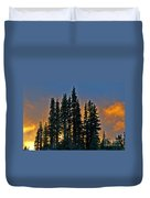 Sunset At Paradise Duvet Cover