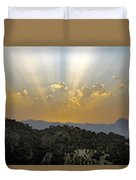 Sunset At Pastelero Near Villanueva De La Concepcion Andalucia Spain Duvet Cover