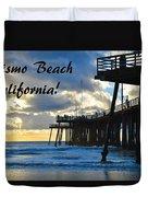 Sunset At Pismo Beach California Duvet Cover