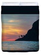 Sunset At Point Loma Duvet Cover