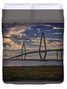 Sunset At Ravenel Bridge Duvet Cover