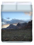 Sunset At Red Rock Canyon Duvet Cover