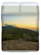 Sunset At Roan Mountain Duvet Cover