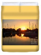 Sunset At Sailors Cove Duvet Cover