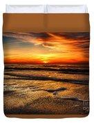 Sunset At Saint Petersburg Beach Duvet Cover