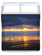 Sunset At Salt Creek Duvet Cover