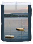 Sunset At Schroon Lake Duvet Cover