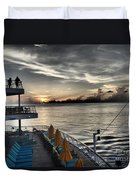 Sunset At Sea II Duvet Cover