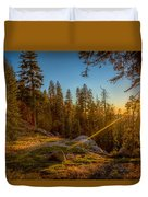 Sunset At Sequoia Duvet Cover