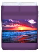 Sunset At Strands Beach Duvet Cover
