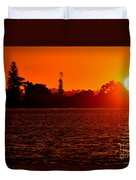 Sunset At Swan River II Duvet Cover