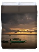 Sunset At Tabuena Beach 1 Duvet Cover