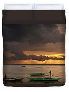Sunset At Tabuena Beach 2 Duvet Cover