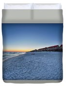 Sunset At The Beach In Florida Duvet Cover