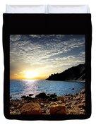 Sunset At The Black Sea Coast. Crimea Duvet Cover