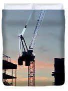 Sunset At The Construction Site 3  Duvet Cover