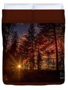 Sunset At The End Of The Hike Duvet Cover