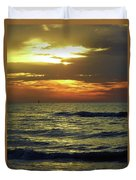 Sunset At The Gulf Duvet Cover