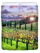 Sunset At The Palmers Duvet Cover