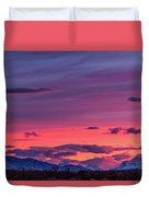 Sunset At The Ranch #2 - Patagonia Duvet Cover