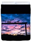 Sunset At The Ranch Duvet Cover