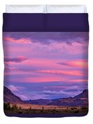 Sunset At The Ranch - Patagonia Duvet Cover