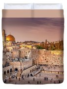 Sunset At The Wall Duvet Cover