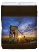 Sunset At The Windmill Duvet Cover