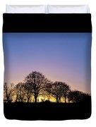 Sunset At Turlough Duvet Cover