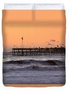 Sunset At Ventura Pier Duvet Cover