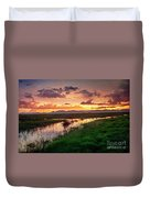 Sunset At Whitewater Draw Duvet Cover