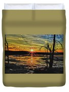 Sunset At Yellowstone Duvet Cover