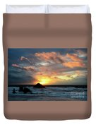 Sunset Bandon By The Sea Duvet Cover
