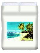 Sunset Beach Hawaiian #113 Duvet Cover