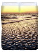 Sunset Beach In Florida Paradise Duvet Cover