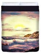 Sunset Beach Pastel Splash - Elegance With Oil Duvet Cover