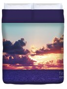 Sunset Behind Clouds Duvet Cover