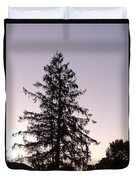 Sunset Behind The Pines Duvet Cover