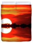 Sunset Behind The Trees At Kempenfelt Bay Two  Duvet Cover