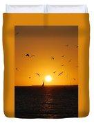 Sunset Birds Key West Duvet Cover by Susanne Van Hulst
