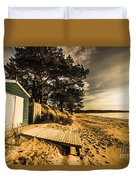 Sunset Boat Shed Duvet Cover