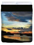 Sunset Bridge Duvet Cover