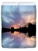 Sunset Brushstrokes Duvet Cover