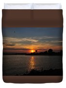 Sunset By The Inlet Duvet Cover