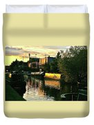 Sunset Canal Reflections Duvet Cover