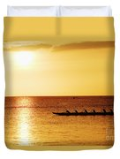 Sunset Canoe Duvet Cover