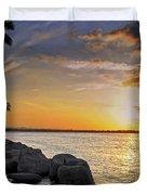 Sunset Caribe Duvet Cover