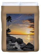 Sunset Caribe Duvet Cover by Stephen Anderson