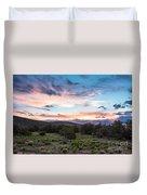 Sunset Cerillos Duvet Cover