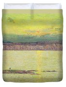 Sunset Duvet Cover by Childe Hassam